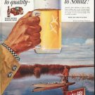 "1958 Schlitz Beer Ad ""Move up"""
