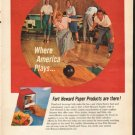 """1962 Fort Howard Paper Company Ad """"Where America Plays"""""""