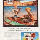 "1957 Kodak Ad ""sparkling pictures 4 feet wide!"""