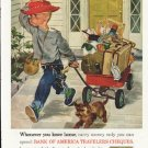 """1961 Bank of America Ad """"Whenever you leave home"""""""