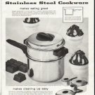 """1958 Flint Cookware Ad """"makes eating great"""""""