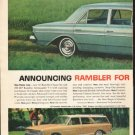 """1963 Rambler Ad """"The New Shape Of Quality"""" ~ (model year 1963)"""