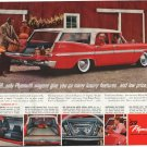 """1959 Plymouth Ad """"Plymouth wagons"""" ~ (model year 1959)"""