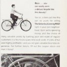 "1963 Curtis Circulation Company Ad ""deluxe bicycle"""