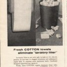 "1962 National Cotton Council Ad ""Fresh Cotton towels"""