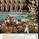 """1976 India Travel Ad """"India is not for you"""""""