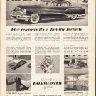 """1953 Buick Ad """"Five reasons"""" ... (model year 1953)"""