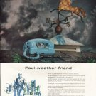 "1961 General Telephone and Electronics Ad ""Foul-weather friend"""