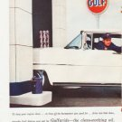 """1957 Gulfpride Motor Oil Ad """"To keep your engine clean"""""""