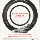 """1961 Union 76 Tires Ad """"First tire fine enough"""""""
