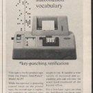 "1962 Friden Ad ""This tape"""