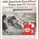 """1958 Hit Parade Cigarettes Ad """"Pleasure up your smoking"""""""