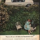 """1963 Ford Thunderbird Ad """"What to tell your wife"""" ~ (model year 1963)"""