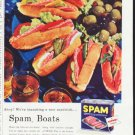 """1957 Spam Ad """"Spam Boats"""""""