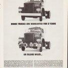 "1963 Dodge Trucks Ad ""Dodge Trucks Are Warranted"""