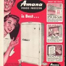 "1953 Amana Freezer Ad ""Here's Why"""