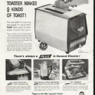 """1958 General Electric Ad """"9 kinds of toast"""""""