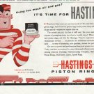 "1958 Hastings Piston Rings Ad ""oil and gas"""