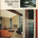 """1961 Westinghouse Ad """"total electric home"""""""