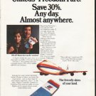 """1976 United Airlines Ad """"Freedom Fare"""""""