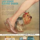 """1958 Lady Schick Ad """"right in step"""""""