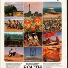 "1976 South Africa Travel Ad ""A world tour"""
