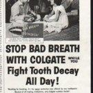"1958 Colgate Ad ""Stop Bad Breath"""