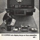 """1962 Railway Express Agency Ad """"cuts shipping charges"""""""