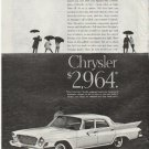"1961 Chrysler Ad ""spread the news"" ~ model year 1961"