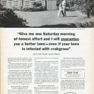 "1962 Scotts Lawn Care Ad ""one Saturday morning"""