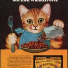 "1976 Whisker Lickins Ad ""The tasty combinations"""