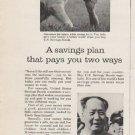 """1962 U.S. Savings Bonds Ad """"A savings plan"""""""
