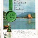 "1962 Usher's Scotch Ad ""Green Stripe"""