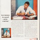 """1963 Pitney-Bowes Ad """"be a mail boy"""""""