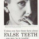 """1957 Polident Ad """"False Teeth"""""""