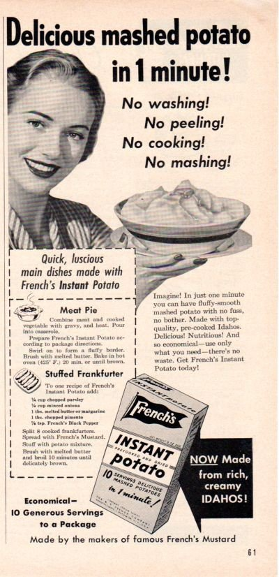 1953 French's Instant Mashed Potato Ad
