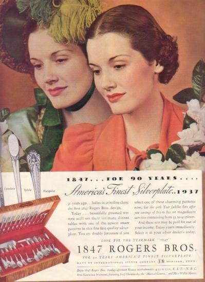 "1937 International Silver Ad ""Rogers Bros."""