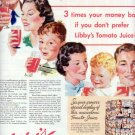 """1937 Libby's Tomato Juice Ad """"A Challenge"""""""