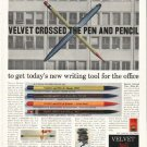"1956 American Pencil Company Ad ""Velvet Crossed"""