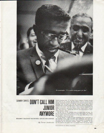 "1965 Sammy Davis Article ""Don't call him Junior"""