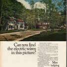 """1972 General Electric Ad """"electric wires"""""""