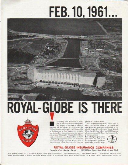"1963 Royal-Globe Insurance Companies Ad ""Feb. 10, 1961"""