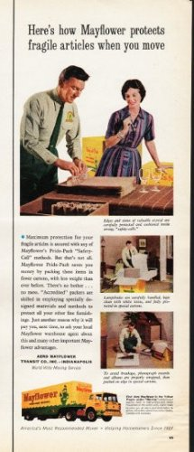 """1961 Mayflower Movers Ad """"how Mayflower protects"""""""