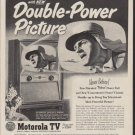 """1953 Motorola Television Ad """"Double-Power Picture"""""""