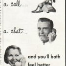 """1956 Bell Telephone System Ad """"A thought"""""""
