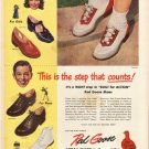 """1948 Red Goose Shoes Ad """"This is the step"""""""