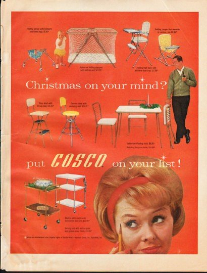"1961 Hamilton Cosco Ad ""on your list"""