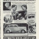 "1937 Plymouth Ad ""Money Ahead!"""