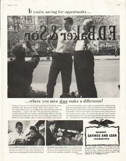 "1956 Savings and Loan Foundation Ad ""where you save"""