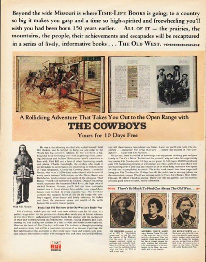 """1972 Time-Life Books Ad """"The Old West"""""""